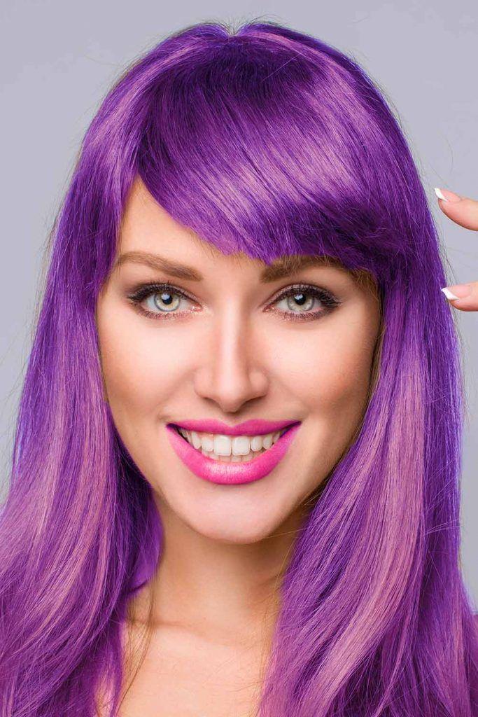 Violet Hair Style