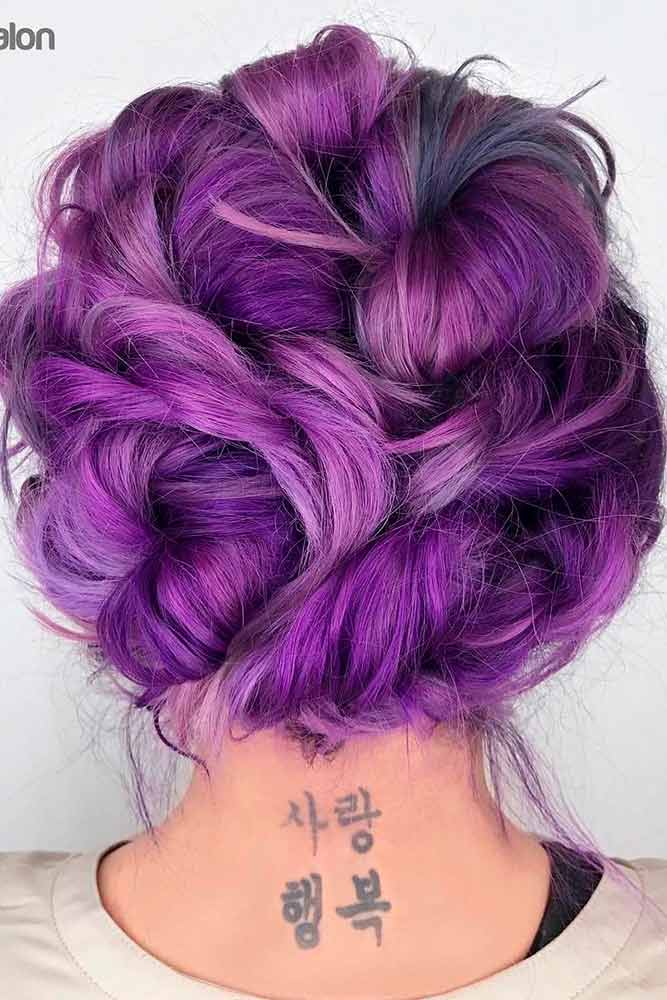 Cute Hairstyles with Purple Strands picture1