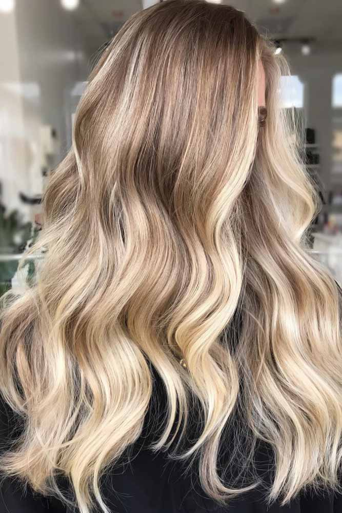 Brown To Blonde Highlights Warm #brownhair #highlights