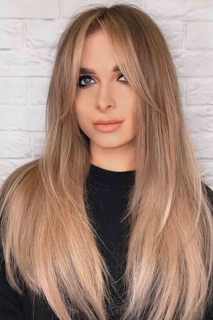 Light Brown Hair Color With Balayage Layers #brownhair #lightbrownhair