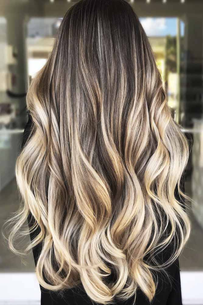 Brown To Dirty Blonde Ombre Waves #brownhair #highlights