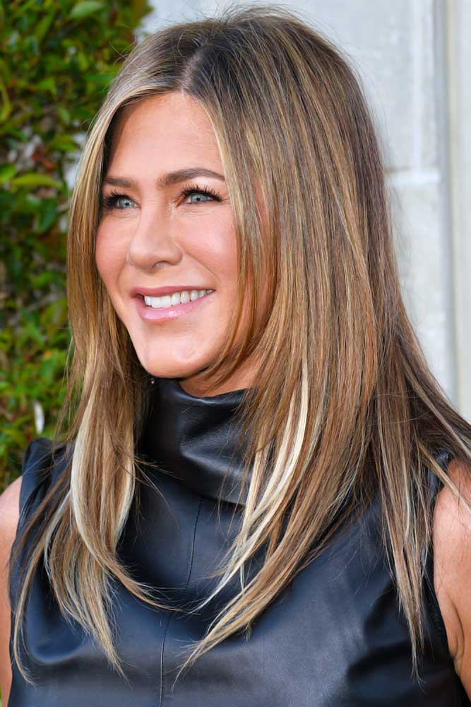 Brown Highlights With Blonde Accents #lightbrownhair #brownhair #highlights