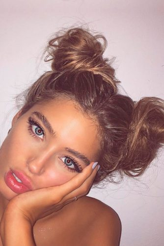 Stylish Double Top Knot picture 3
