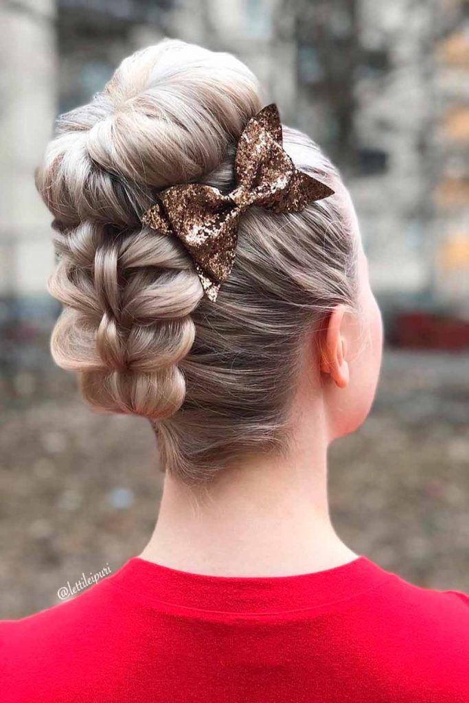 Accessorized Half Up Top Knot