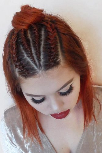 Nice Top Knots with Braids picture 2