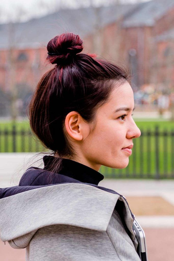 Classic Top Knot Hairstyle