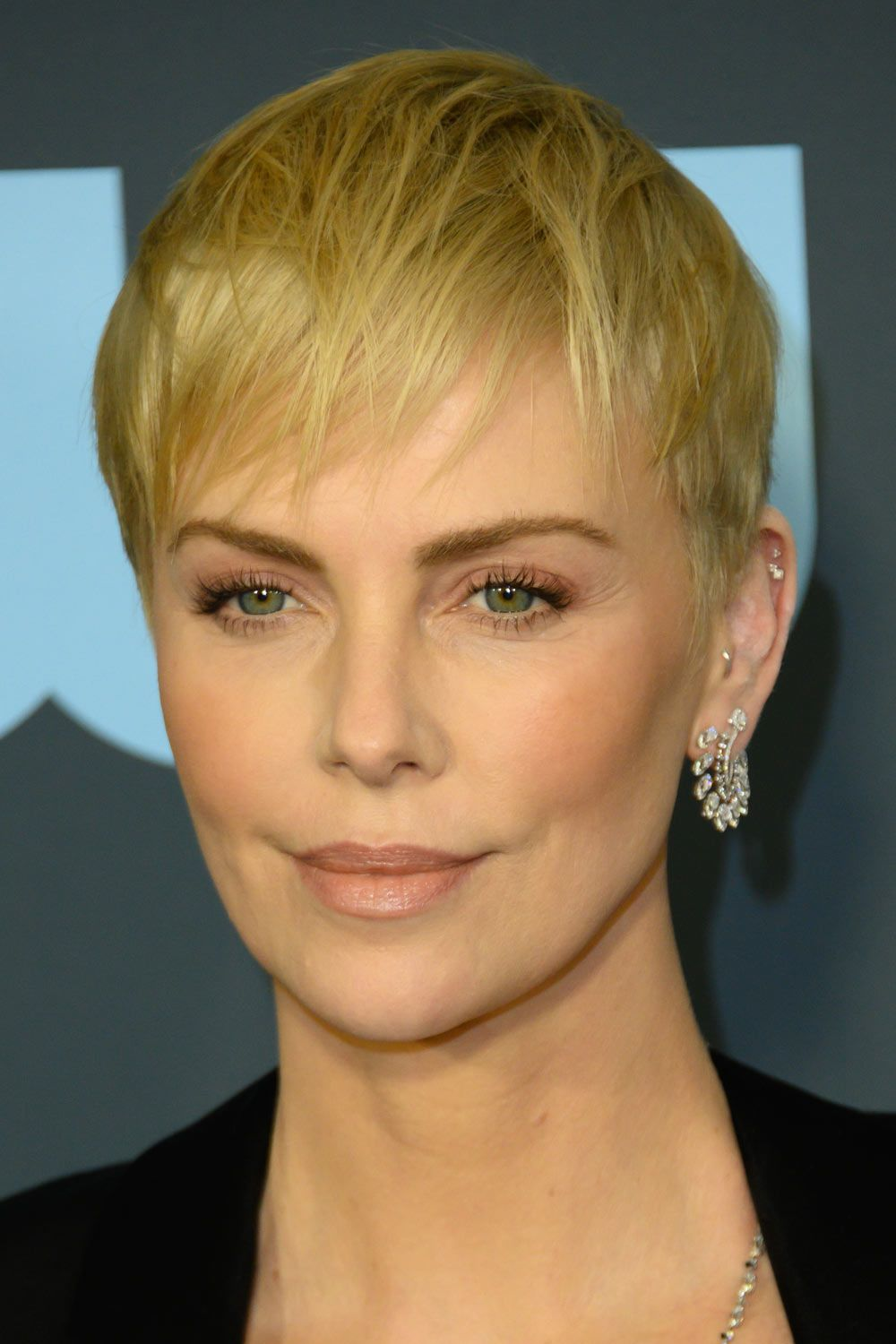 Blonde Pixie Cut For Charlize Theron