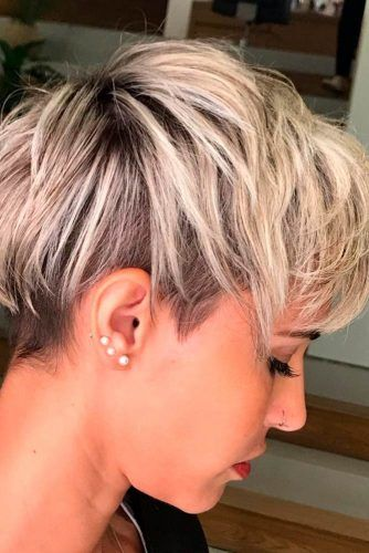 Two-Toned Pixie With Soft Balayage