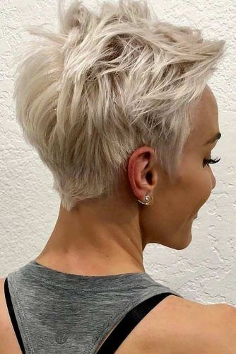 Blonde Messy Short Pixie #pixiecut #haircuts