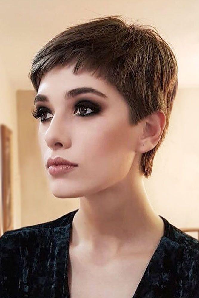 Elegant Brown Pixie Cut #pixiecut #haircuts