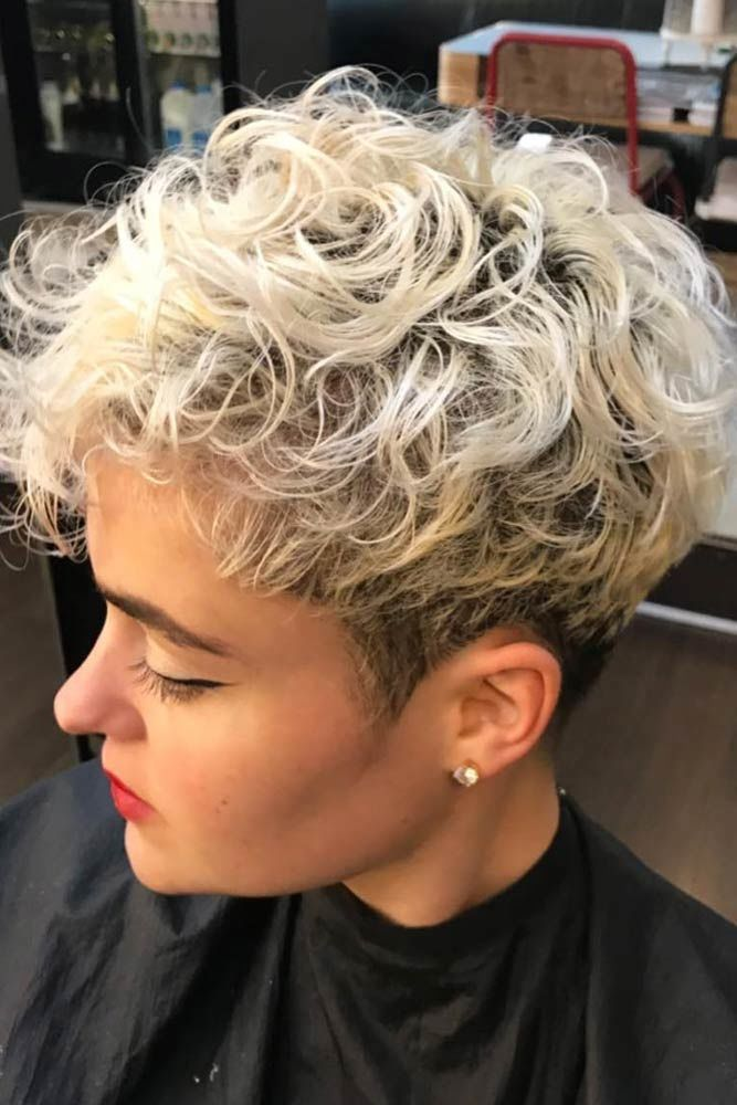 A Short Cut For Curly Hair #pixiecut #haircuts