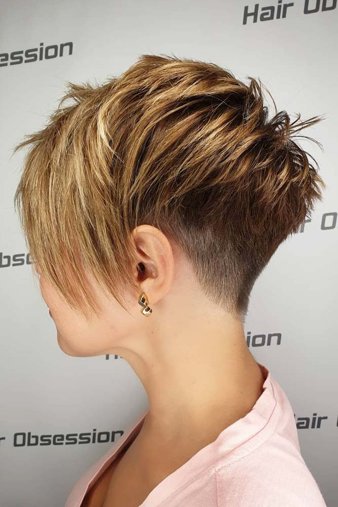 Edgy Pixie With Long Bangs #pixiecut #haircuts