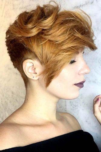 Auburn Shaggy Pixie Hairstyle #pixiecut #haircuts