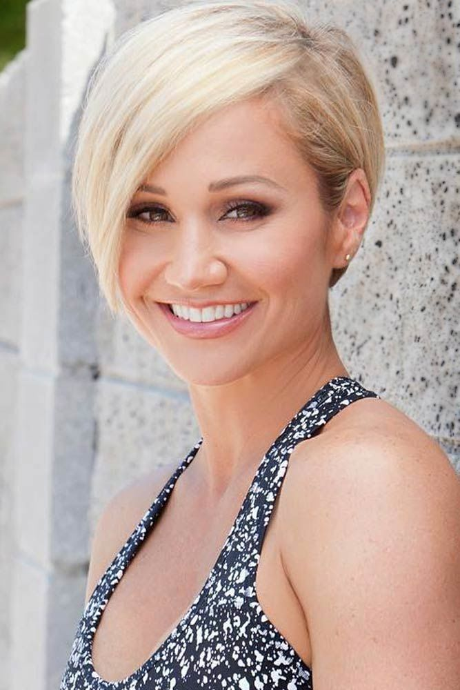 Blonde Pixie Haircut With Long Bangs #pixiecut #haircuts