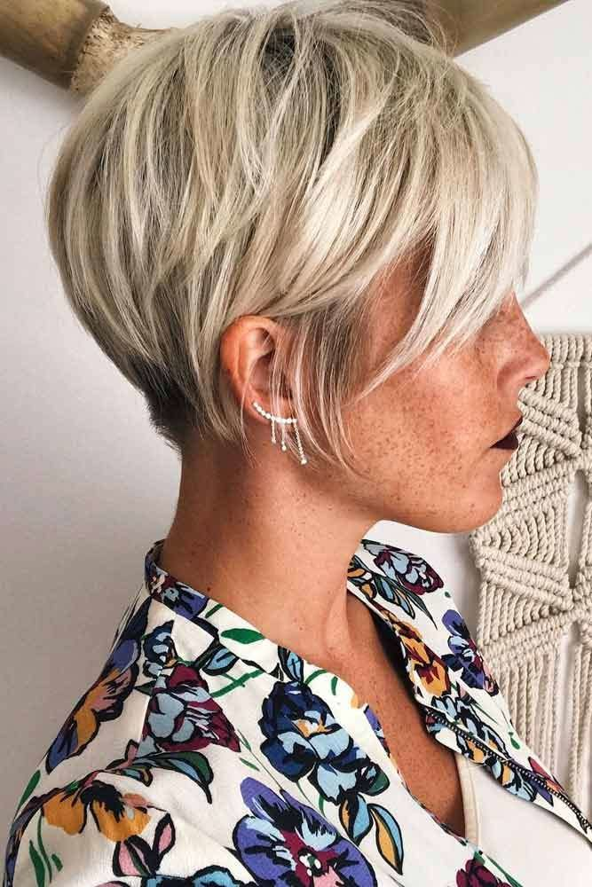 Blonde Pixie Cuts For Business Ladies #pixiecut #haircuts