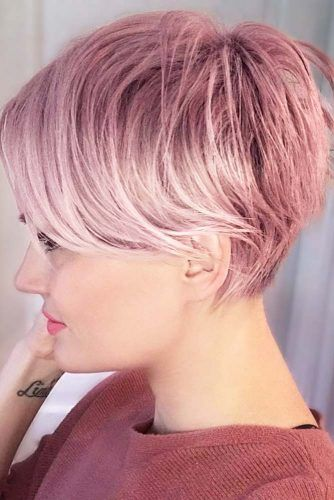 Messy Pixie With Side Bangs #pixiecut #haircuts