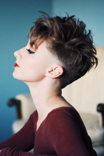 Daring Shaggy Short Cut #pixiecut #haircuts #shortpixie #brownhair