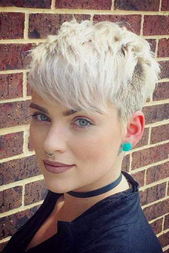 Chic Textured Short Pixie  #pixiecut #haircuts #shortpixie #blondehair