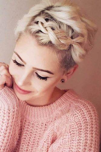 Braided Pixie For Romantic Dates #pixiecut #haircuts