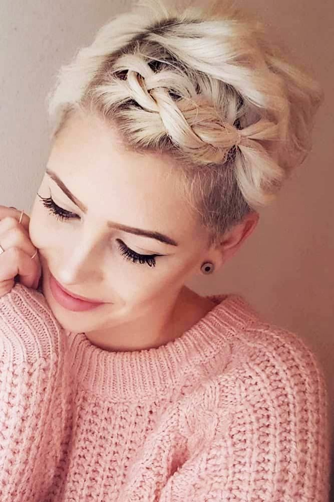 Braided Pixie For Romantic Dates #pixiecut #haircuts