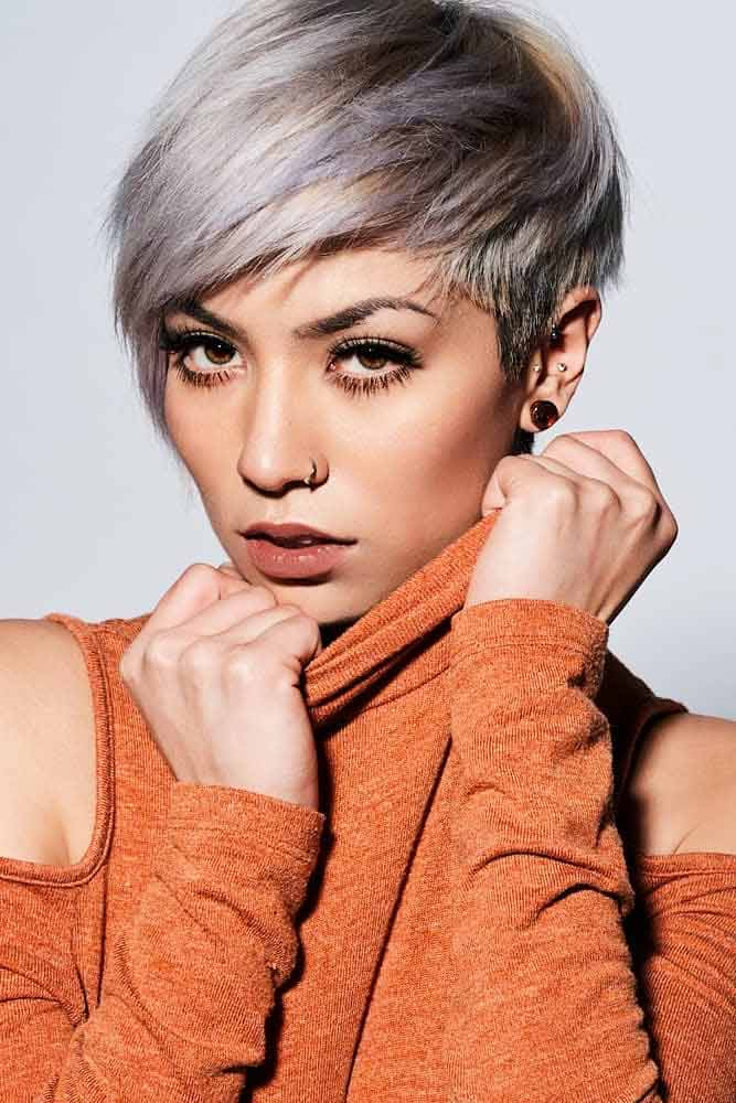 Side Swept Layered Pixie #pixiecut #haircuts