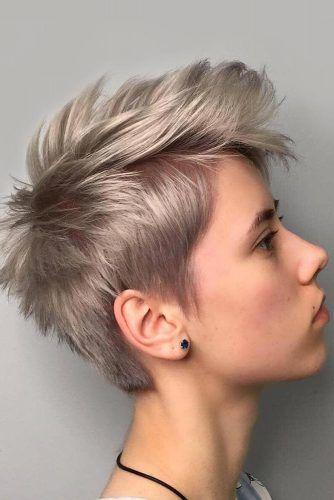 Punky Silver Pixie #pixiecut #haircuts
