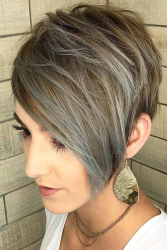 Layered Grey Balayage