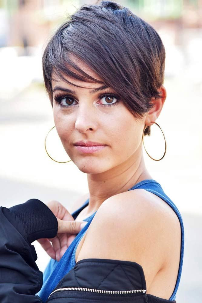 Pixie Hairstyle With Long Bang For Thin Hair #pixiecut #haircuts