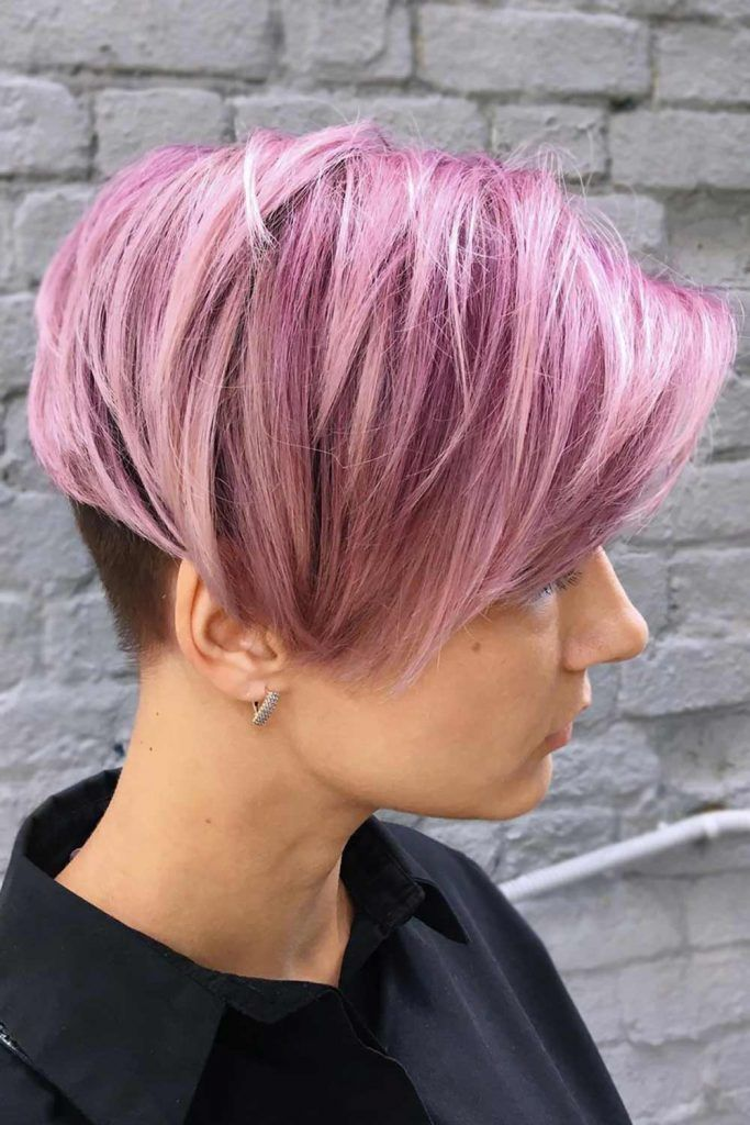 Tapered Long Pixie with An Elongated Fringe #pixie #pixiecut