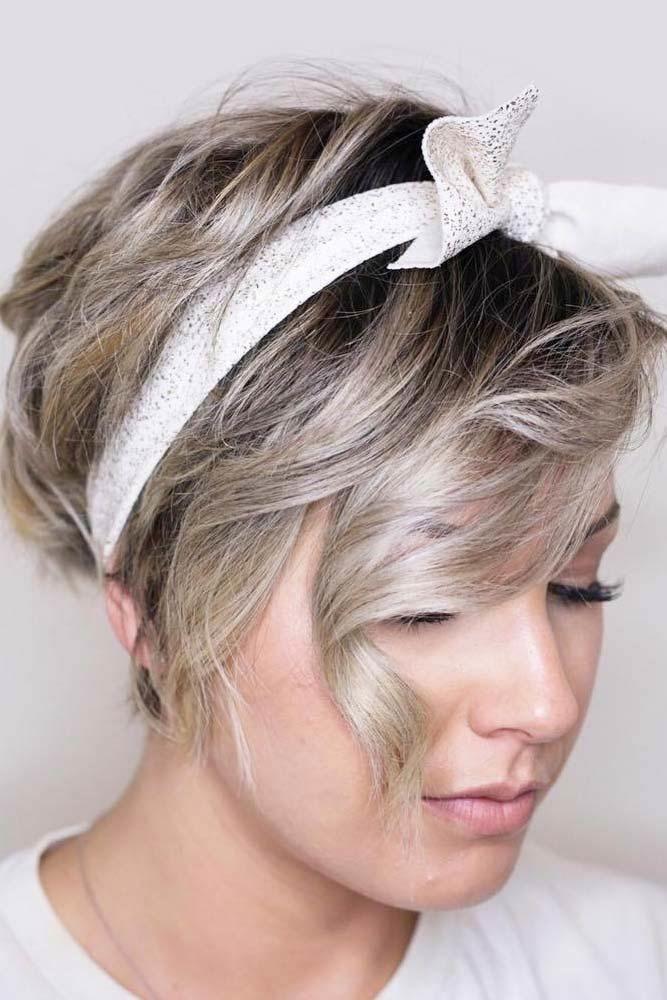 Wavy Pixie With Headband #pixiecut #haircuts