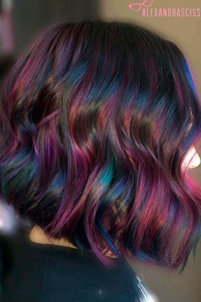 Oil Slick Balayage for Brunettes picture3