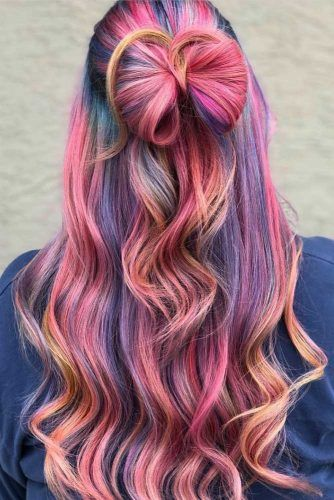 Sweet Candy Rainbow Hair Color
