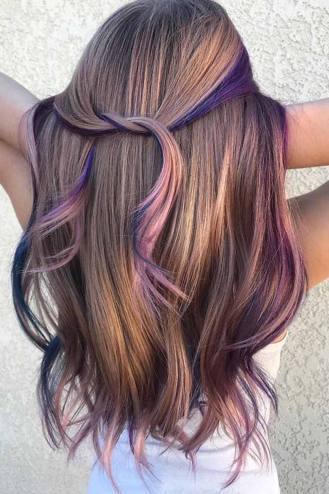 Cold Undertones Rainbow With Light Brown Hair
