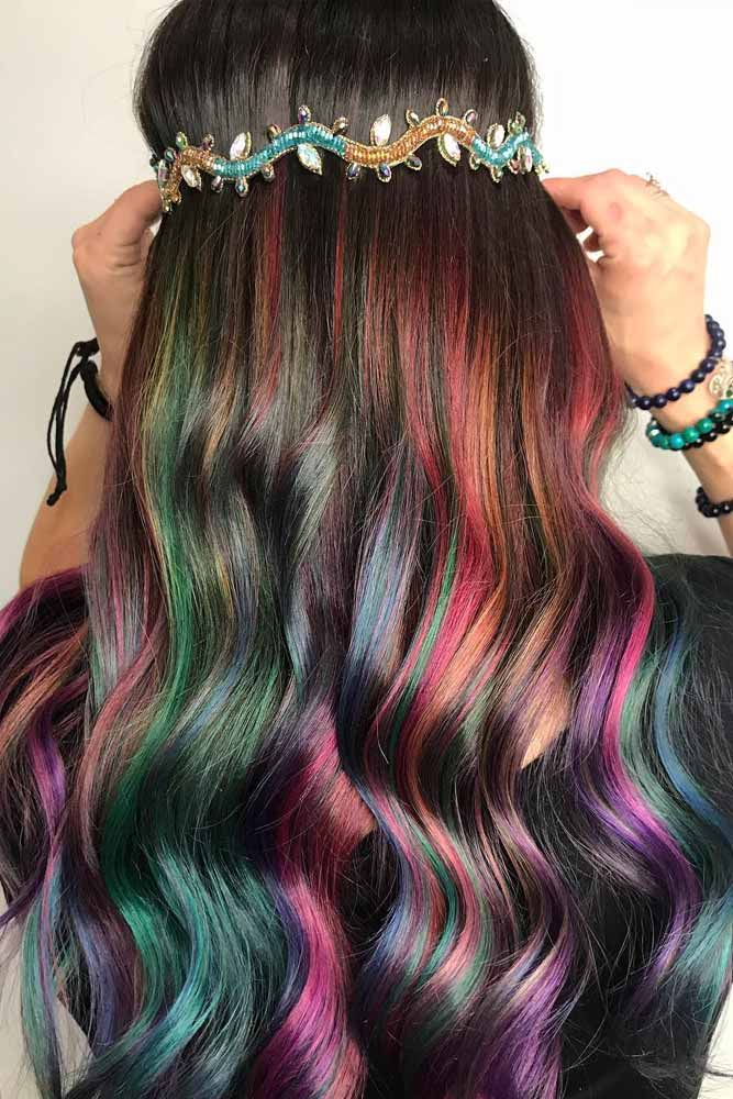 Dark Rainbow Ribbons