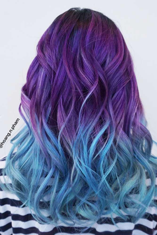 Purple Game on Long Hair picture3
