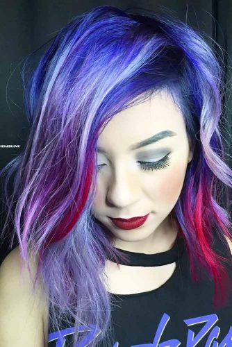 Medium Blue Hair for Brunettes picture1