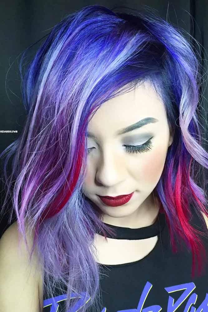 Medium Blue Hair for Brunettes picture1