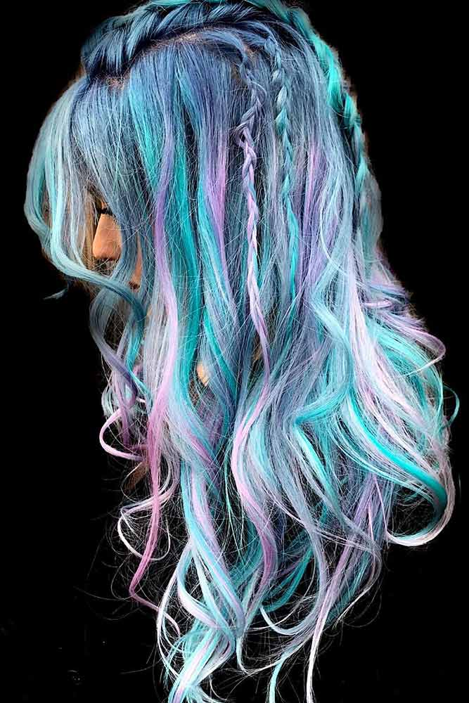 Mermaid Rainbow Hair #rainbowhair #mermaidhair