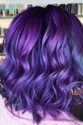 Medium Blue Hair for Brunettes picture3
