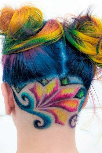 Rainbow Undercut Design