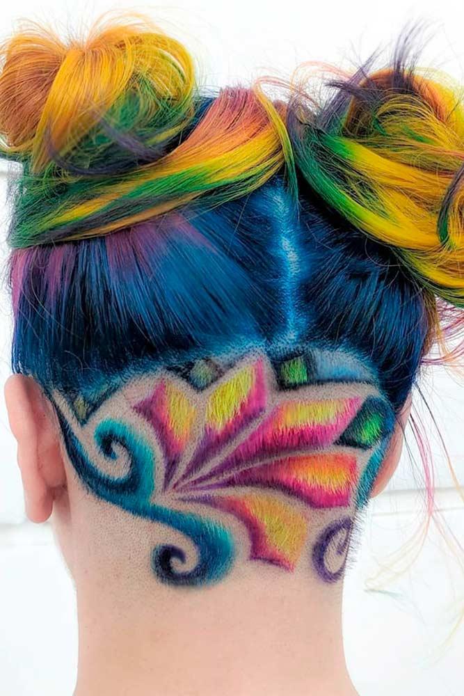 Rainbow Undercut Design