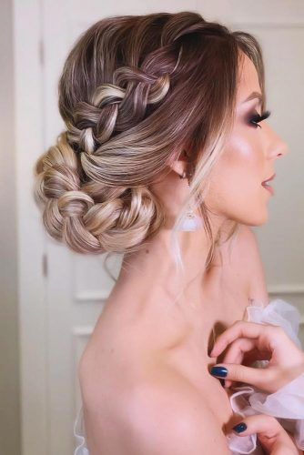 Braided Low Bun With Long Bangs #holidayhair