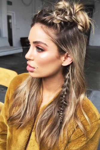 Double Dutch Braids With Knots Half-Up #halfup #braids #knots