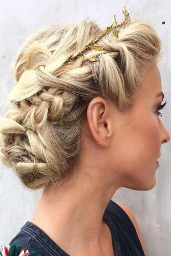 Dutch Braid Into Low Bun #bun #braids