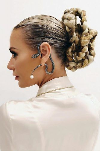 Sleek Design Braid Updo #holidayhair