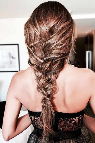 Textured Three Strand Braid #braids #longhair #messyhair