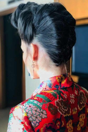 Twisted Updo In Japanese Style #updo