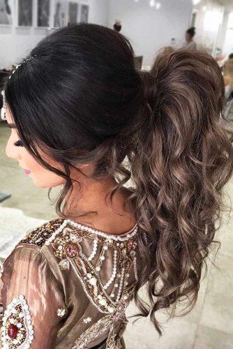 Dramatic Wavy Ponytail #updo #ponytail #wavyhair