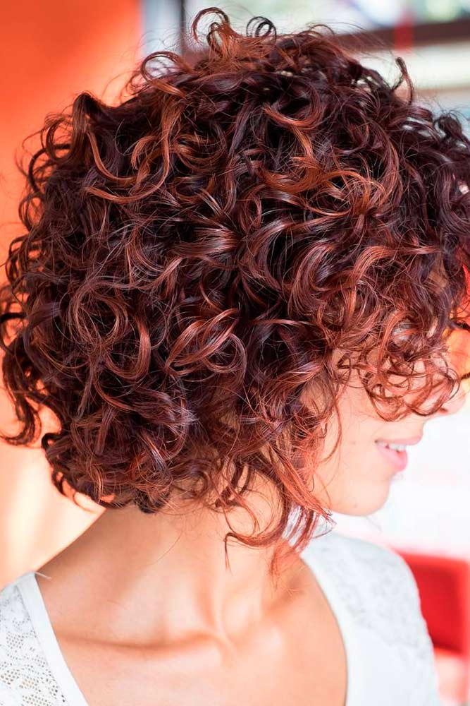 Short Curly Hairstyles for Thick Hair
