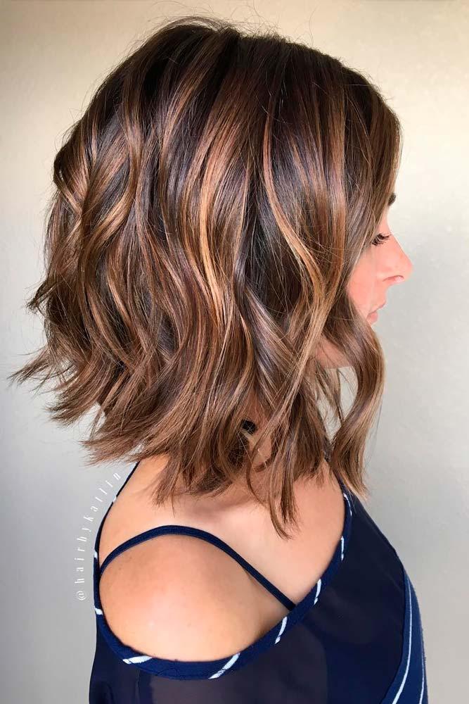 Short Wavy Curls with Bob Haircut